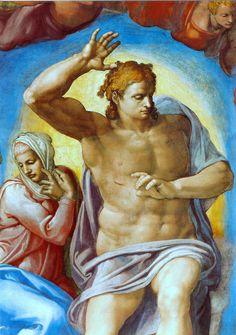 Sixtinische Kapelle, Michelangelo, Jüngstes Gericht, Christus als Richter (Last Judgment, Christ the Judge) by HEN-Magonza, via Flickr