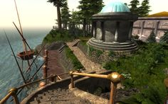A newly released sneak peek pic of Myst Island during the day from the upcoming release of the Real Myst Masterpiece Edition that is working on right now by Cyan.