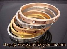 Amazing #Love Bracelet with or without stones available At: www.melodyderm.com