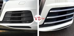 88.20$  Buy here - http://alikte.worldwells.pw/go.php?t=32692589172 - ABS Front Fog Light Protective Trim Cover Stickers 2pcs For Audi Q7 2016 Sport Model 88.20$