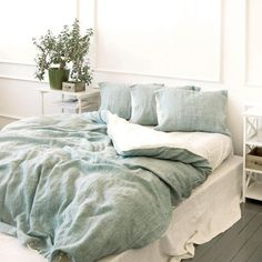 Home Decor Living Room .Home Decor Living Room Green Comforter, White Bedding, Comforter Cover, Duvet Bedding, Neutral Bedding, Sage Bedroom, Bedroom Decor, Bedroom Ideas, Master Bedroom