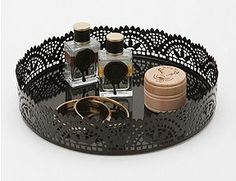 {Thrifty Thursday} Knock-Off Urban Outfitters Cut Lace Vanity Tray - A Night Owl Blog