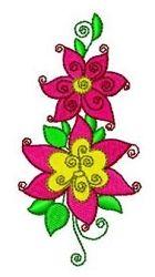 Swirly Flowers 8 - 4x4 | What's New | Machine Embroidery Designs | SWAKembroidery.com Fun Stitch