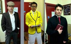 Ryan's outfits for musicals he is performing at.