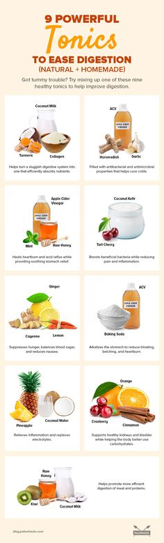9 Powerful Tonics to Ease Digestion (Natural + Homemade) Paleo Recipes, Cooking Recipes, Delicious Recipes, Healthy Life, Healthy Living, Easy Family Meals, Family Recipes, Healthy Drinks, Detox Drinks