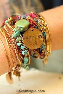 Bangles  band jewelry bracelet boho pendent bangle harmony