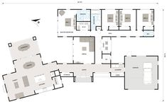 Vichingo Creek Case di lusso - The Lodge at Whitefish Lake Luxury House Plans, New House Plans, Modern House Plans, Modern House Design, House Floor Plans, Courtyard House Plans, Facade House, Home Design Floor Plans, Welcome To My House