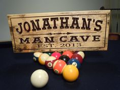 Rustic Distressed Man Cave Sign Personalized by TKWoodcrafts, $39.95