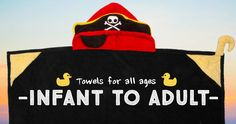 HoodedTowels.com - Baby to Adult Sizes! Animal and Character Towels!