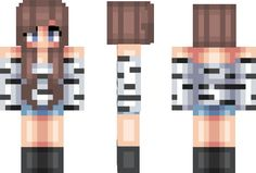 Zebra Girl Minecraft Skin