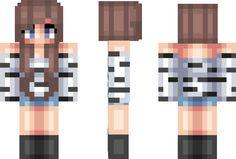 Zebra Girl Minecraft Skin