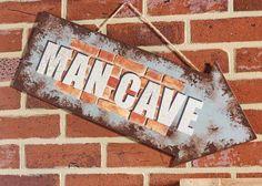 Decoupage - DIY Handmade Man Cave Sign