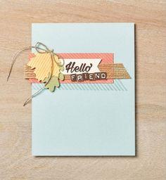 October Paper Pumpkin Alternate - Hello Friend Card Idea Using leaves