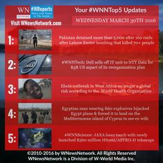 View the latest breaking news to stay updated on March 30th with #WNNtop5 from #WNewsNetwork.