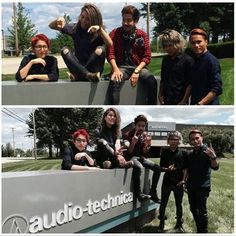 A-T artist and rockers @Crossfaithjapan stopped by to visit us while on the U.S. leg of their world tour and looks like they took @ATMicman with them! Catch Crossfaith on the west coast, until August 8. #metal #metalcore #crossfaith #rocknroll #ATmicman