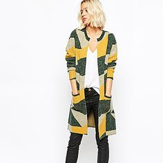 FOLA  Women's Geometric Multi-color Coats & Jackets , Casual / Party / Work Round Long Sleeve – AUD $ 34.31