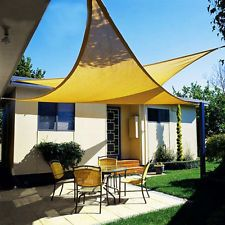 Quictent 12/18/20 FT Triangle Sun Shade Sail Patio Pool Top Canopy Cover + Bag