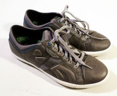 """VGC Mens Size 9 CUSHE """"The Standard"""" Mid Grey Leather & Canvas Sneakers, CLEAN!"""
