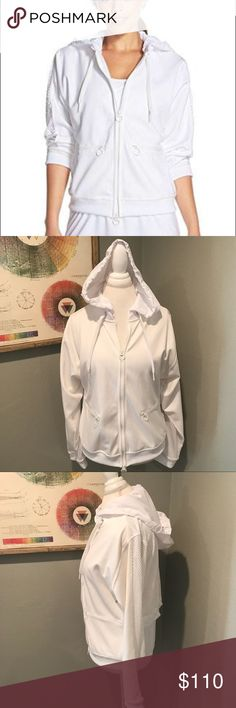 Stella McCartney Adidas Warm-Up Wimbledon Jacket Adidas by Stella McCartney white Full Zip Warm-Up Wimbledon Jacket. Climalite soft, lightweight fabric for superior moisture management * Full-mesh back and tiecord stopper to adjust the fit * Two-way zipper to adjust fit and ventilation. Size Large. Excellent condition!  ................... 🚫 - No Trades! 🚭 - listings from a non-smoking home 📬 - fast shipping 💌 - Feel free to make an offer!  💯 - items as described, feel free to ask…