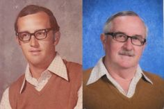 P.E. teacher Dale Irby concluded 40 years of teaching - and just one wardrobe for school picture day.