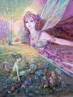 If you have a special garden,  Where flowers and herbs abound.  Then take a pinch of fairy dust,  And sprinkle it around.  The fairies will take notice,  And at the end of day.  They'll tiptoe out upon the grass,  And dance the night away.  ~ Carla J. Nelson