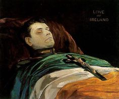 """Michael Collins, Love of Ireland"", by Sir John Lavery (Irish Hugh Lane Municipal Gallery, Dublin Ireland 1916, Dublin Ireland, Michael Collins, Belfast, Glasgow, Northern Ireland Troubles, Irish Independence, Irish Republican Army, Historical Fiction Authors"