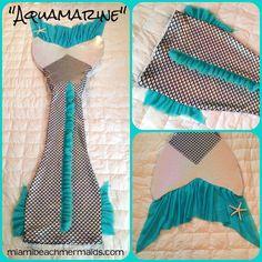 "Realistic Swimmable Mermaid Tail ""AQUAMARINE"" #MiamiBeachMermaids #SwimmableMermaidTail"