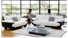 Create A Stylish Statement In Your Lounge With The Centro Leather Suite Its Unique Design And Black White Colour Scheme Provide Chic Setting