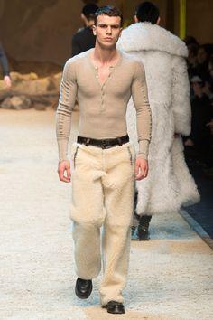 Dolce & Gabbana Fall / Winter 2016 - Man in Sheepskin Pants
