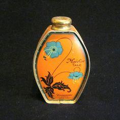 1920s Paris Vivaudou Powder Tin Maid'or Talc French Talcum Powder Advertising Lithography Vintage Mavis Tin Rare