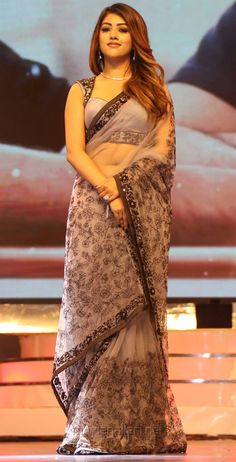Anu Emmanuel Sexy Saree Pictures At Agnathavasi Audio launch - Hollywood Sarees For Girls, Saree Trends, Saree Models, Stylish Sarees, Saree Look, Elegant Saree, Indian Beauty Saree, Indian Sarees, Most Beautiful Indian Actress