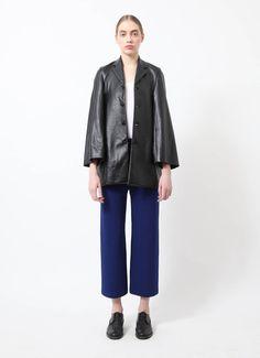 Comme des Garçons | Tricot Faux Leather Jacket | RESEE