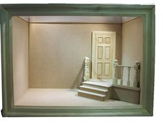 "Raw, unpainted Roombox designed and hand made by Mum & Me Miniatures ready for you to decorate. 14"" long x 10"" deep x 10"" high"