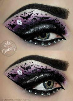 Bats Halloween eye make up look Eye Makeup Art, Makeup Inspo, Makeup Inspiration, Eye Art, Bat Makeup, Makeup Ideas, Scene Makeup, Makeup Stuff, Nail Ideas