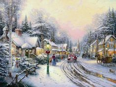 christmas paintings images - Bing Images