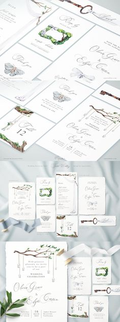 White Forest Wedding Invitations Forest Wedding Invitations, Wedding Invitation Suite, Wedding Invitation Templates, Wedding Card, Wedding Suits, Menu Card Template, Thank You Card Template, Card Templates, Thank You Cards