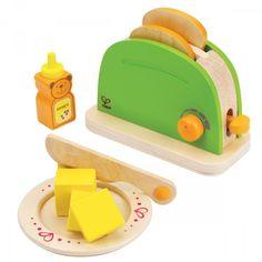 Kinderküchen Zubehör | Toaster aus Holz, 10 Teile, von Hape
