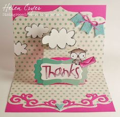 Helen Cryer - Thanks Shadow Card - inside