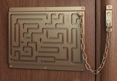 Someone breaking in? I think not! I want one of these lol Geeks, Social Design, Door Chains, Home Goods Decor, Just In Case, Funny Pictures, Inspiring Pictures, Random Pictures, Geek Stuff