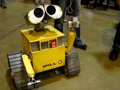 A real life Wall-E at the FIRST robotics championships. St. Louis 2012.