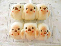 パウンド型でひよこパンの画像