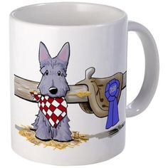Western Scottie Dog Mug