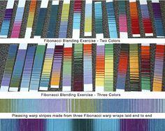 Teaching - Rocky Mountain Weaver's Guild -Fibonacci Blended Stripes