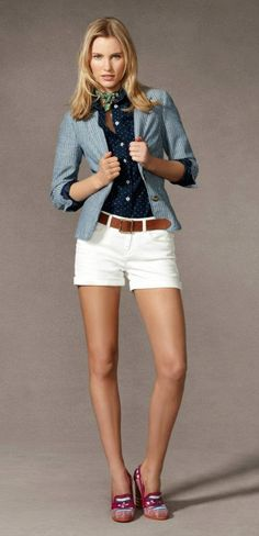 prep it up! nothing beats a good pair of white shorts. :)