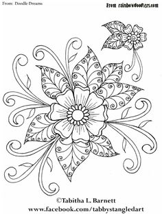 Henna flower Doodledreams