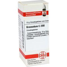 KREOSOTUM C 200 Globuli:   Packungsinhalt: 10 g Globuli PZN: 04223346 Hersteller: DHU-Arzneimittel GmbH & Co. KG Preis: 9,10 EUR inkl. 19…