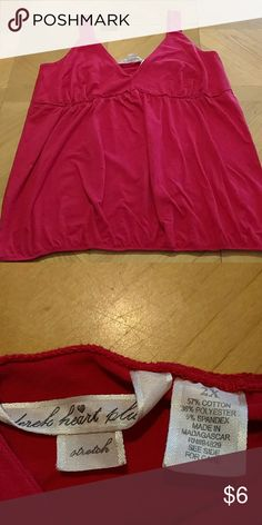 Tank top Derek heart plus size red tank top. Size 2x stretch. Excellent condition. Smoke free home. Derek Heart Tops Tank Tops