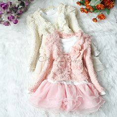 0396d27466e56 Girl Outfit Jacket Tutu Pearl Flower Top Dress Toddler Party Pageant  Clothes Set. Abbigliamento Per BambiniAbbigliamento Per BambinoI ...