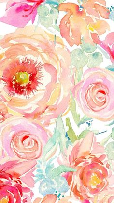wallpaper porches floral flowers watercolor roses watercolors peony anthropology iphone html Art Floral, Floral Flowers, Florals, Rose Flowers, Pretty Flowers, Art And Illustration, Watercolor Flowers, Watercolor Paintings, Watercolors
