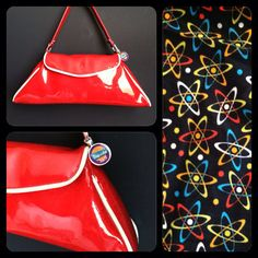 Red and White Glitter Handbag by Disgraceland on Etsy, $60.00